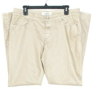 One 5 One Womens Jeans Shimmery Gold 12 GW